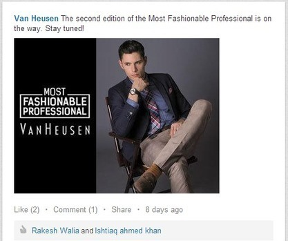 How Van Heusen is Using LinkedIn To Promote Its Corporate Collection | Public Relations & Social Media Insight | Scoop.it