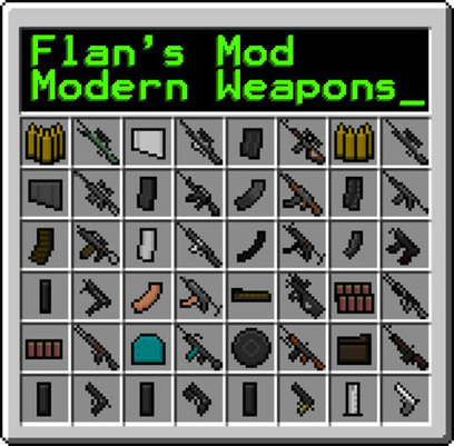 Flan's Modern Weapons Pack Mod 1.6.2 | minecraft | Scoop.it