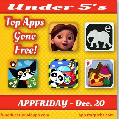Over 40 Top Apps for Kids Gone Free for Today's #APPFRIDAY Dec. 20 - | Educational Apps for Kids | Scoop.it