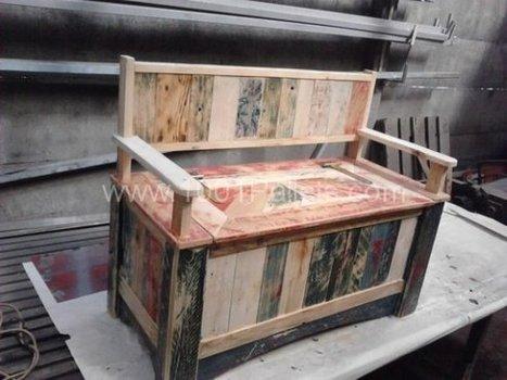 Pallet storage bench | DIY | Scoop.it