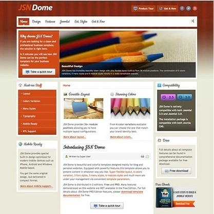 JSN Dome Pro unlimited v4.0.1 – JoomlaShine Joomla Templates 2.5 and 3.x | Mobile Friendly Web Designs | Scoop.it