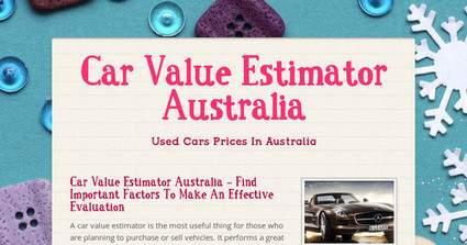 Car Value Estimator Australia | Wholesale Car Prices Australia | Scoop.it