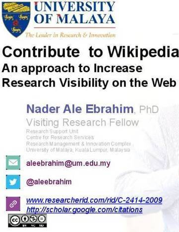 Contribute to Wikipedia: An approach to Increase Research Visibility on the Web | El rincón de mferna | Scoop.it