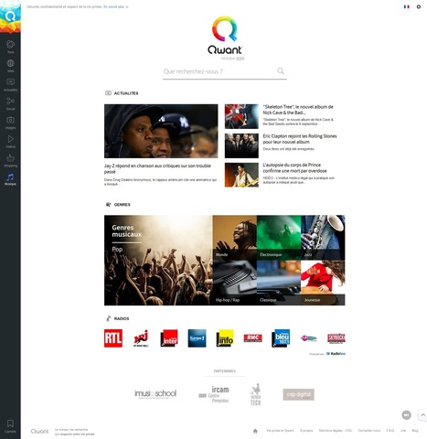 Qwant Music débarque ! | -thécaires | Espace musique & cinéma | Scoop.it