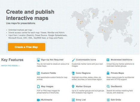 Map creator online to make a map with multiple color pins and regions | Eclectic Mix | Scoop.it