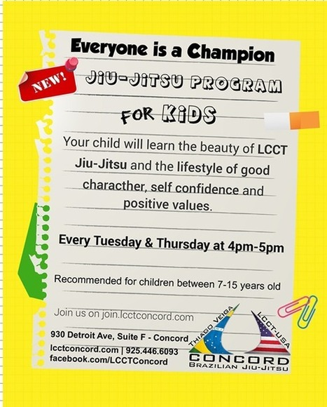 LCCT Concord - NEW Kids BJJ classes starting today!!! | Martial Arts | Scoop.it