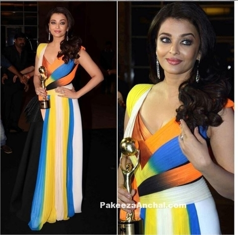 Aishwarya Rai in Multicolored Amit Aggarwal Gown | Indian Fashion Updates | Scoop.it
