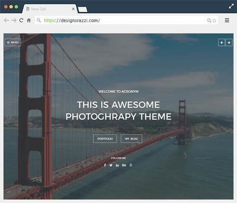Acronym A Responsive Full Screen Travel Photography Ghost Theme | Designrazzi | Designrazzi | Scoop.it