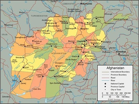 Map of Aghanistan | A Thousand Splendid Suns - Afghanistan | Scoop.it