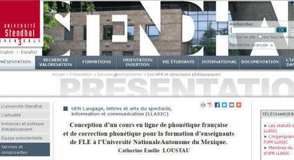 Conception d'un cours en ligne de phonétique française - C.E. Loustau | Espace Pédagogique FLE | Scoop.it