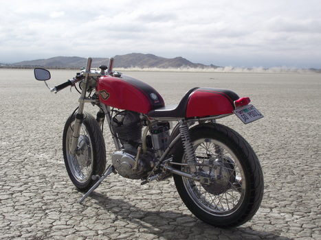 Mike McGeachy's 1966 Ducati 250 at the El Mirage dry lake | Ductalk Ducati News | Scoop.it