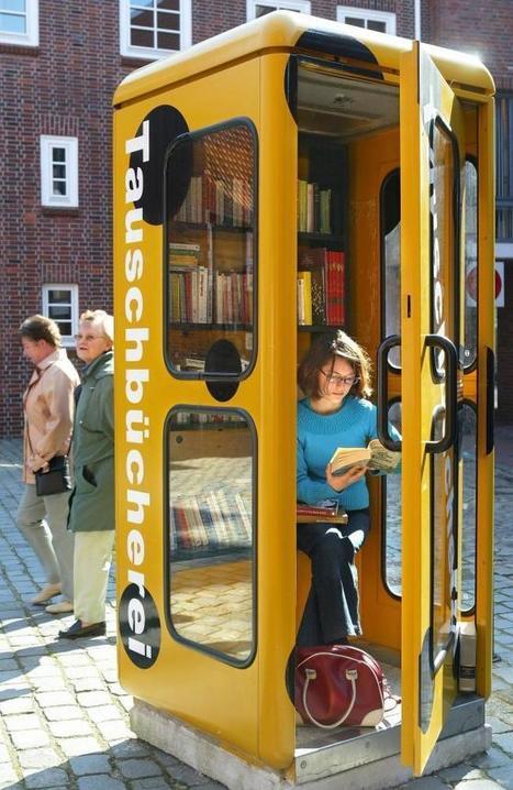 Des cabines téléphoniques transformées en mini-bibliothèques | Alice | Scoop.it