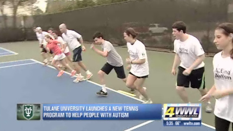 Tulane launches new tennis program to help kids with autism - WWL | The Puzzle We Call Autism | Scoop.it