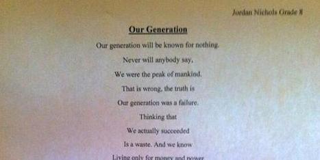 This 14-Year-Old Boy Just Wrote The Most Important Poem Of The 21st Century | Elite Daily | Creative Writing | Scoop.it