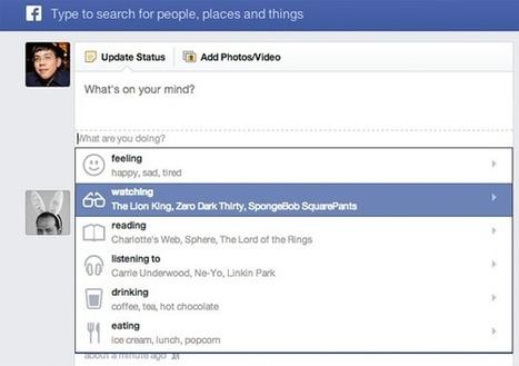 Facebook intègre les actions aux statuts de ses utilisateurs américains | Social Media Curation par Mon Habitat Web | Scoop.it