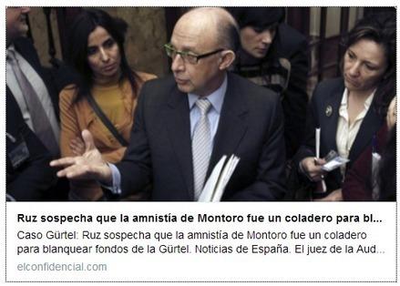 CNA: Ruz sospecha que la amnistía de Montoro fue un coladero para blanquear fondos de la Gürtel | La R-Evolución de ARMAK | Scoop.it