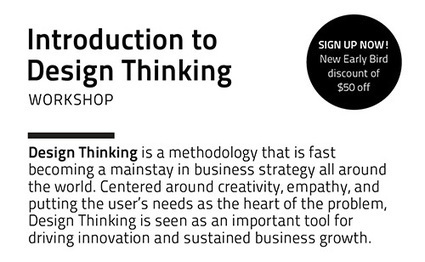 Introduction to Design Thinking Workshop 7, Now with Early Bird ... | Designing  service | Scoop.it
