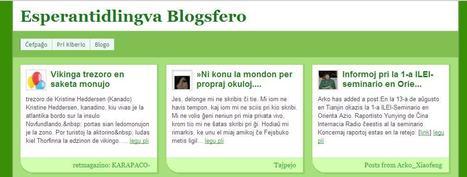Esperantidlingva Blogsfero   Esperanto, lingvo de la mondo   Scoop.it