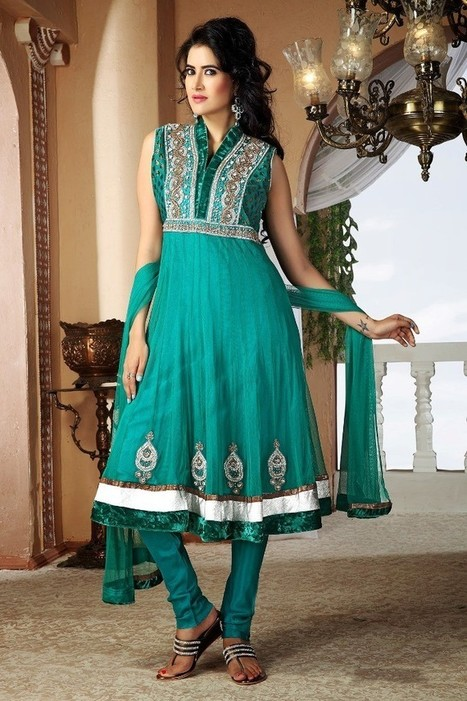 Gravity Fashion - Unique Emerald Green Salwar Kameez | If loving Fashion is a Crime, We Plead Guilty | Scoop.it