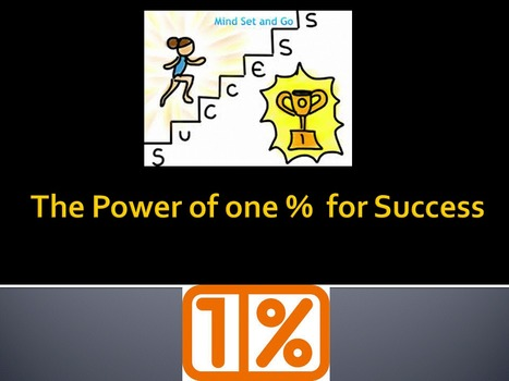 The Power of one % for Success | kamyabology | Scoop.it