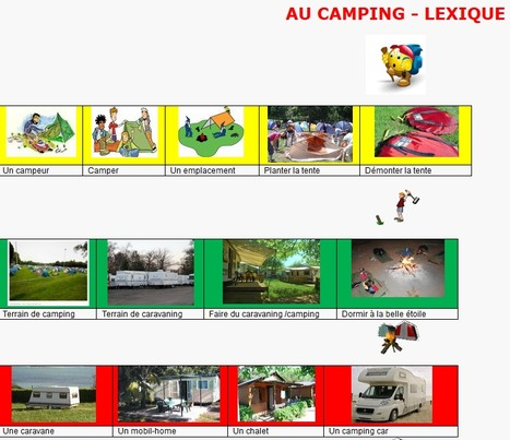 Camping - Lexique | FLE enfants | Scoop.it