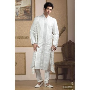 White Kurta Pajama Set With Resham Work | Mens Clothing Online | Nice one | Scoop.it