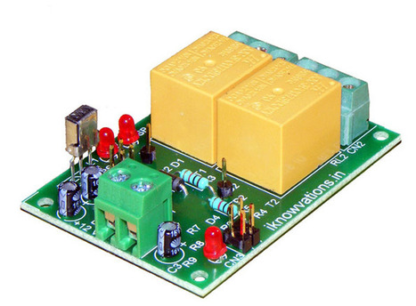 New 2 channel infrared IR remote control board iR-2R launched. iknowvations.in | Serial LCD | Scoop.it