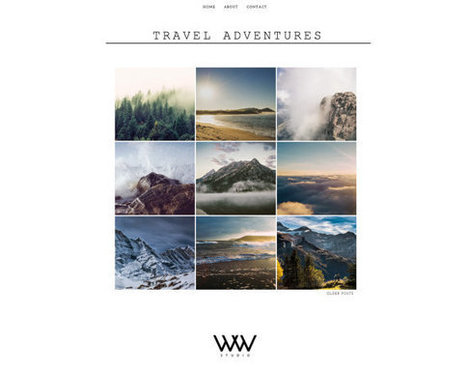"Responsive Blogger Template ""Travel Advantures"" / Instant Digital Download Premade Photography Blog Theme Design 