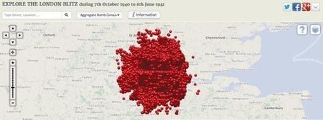 Map of Blitz Bomb Drops | GenealoNet | Scoop.it