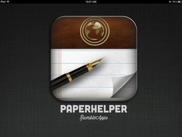 PaperHelper: iPad App Splits the Screen for Document Writer and Web Browser Combo   iPad and iPhone   Scoop.it