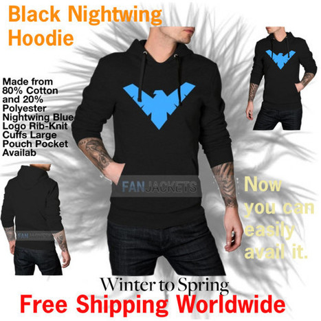 The Stylish Black Nightwing Hoodie For Men!! | Mens Celebrity Fashion Jackets, Coat and Suits | Scoop.it