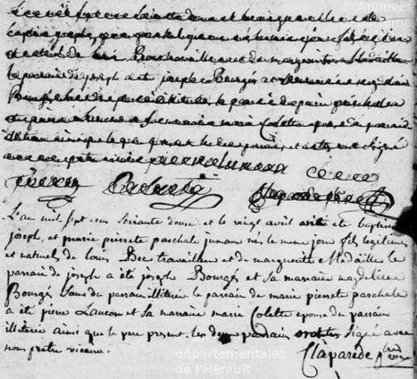 Erreur sur le sexe d'un nouveau-né, Montpellier 1772 | Généalogie | Scoop.it
