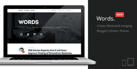 Words | Responsive Premium Blog Theme | Latest Wordpress Themes | Scoop.it