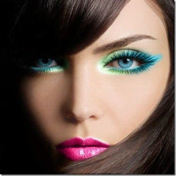 Bright-Colored Eyes and Lips | At Home Beauty Treatments | Scoop.it