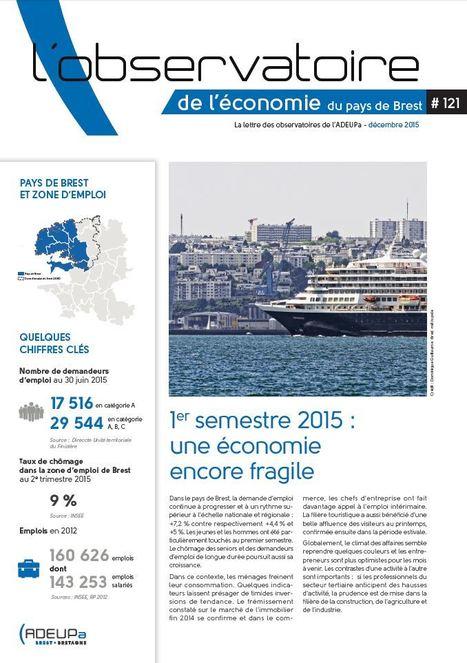 Premier semestre 2015 : une économie encore fragile | Actualités et Publications de l'ADEUPa, de ses partenaires  et du réseau des agences d'urbanisme | Scoop.it