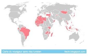 iTeckr: Carte du monde du tunisien sans visa | Tunisie News | Scoop.it