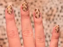 Nail Art How To: Easy peasy gold sharpie nails - Sugarscape | The Nail Zone | Scoop.it