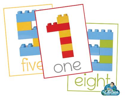 RECURSOS PRIMARIA | Tarjetas de n&uacute;meros con piezas LEGO en ingl&eacute;s<br/>Este material&hellip; | FOTOTECA INFANTIL | Scoop.it