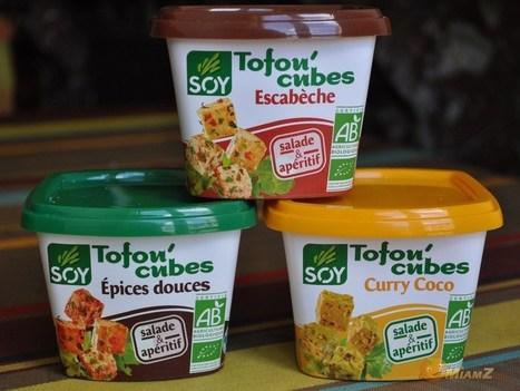 Test : Soy Tofou'cubes, le tofu à grignoter | MiamZ | Actualité de l'Industrie Agroalimentaire | agro-media.fr | Scoop.it