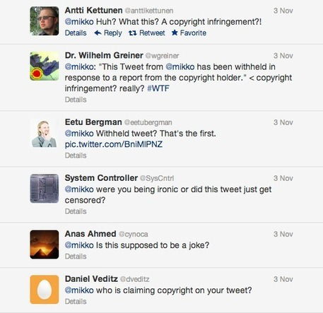New Twitter policy lets users see tweets pulled down for copyright   La red y lo social   Scoop.it