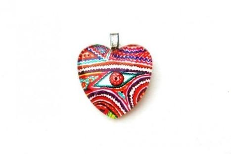 Heart shaped handmade GlassTile Pendant HSOWA1 - Craftsia - Indian Handmade Products & Gifts | Indian Handmade Jewelry | Scoop.it