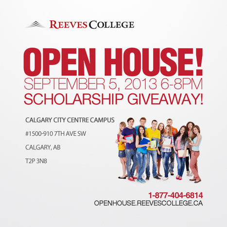 Reeves College Open House in Calgary City Centre, AB | Reeves College in Alberta Canada | Scoop.it