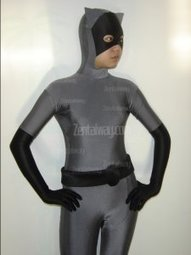 Black And Grey Spandex Lycra Cat Zentai [c083] - $42.00 : Buy Zentai,zentai suits,zentai costumes,lycra bodysuit,bodysuit spandex,cheap,zentai wholesale,from zentaiway.com | animal zentai catsuits | Scoop.it