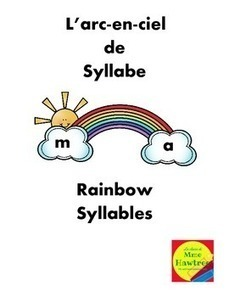 Rainbow Syllables  - Arc-en-ciel de syllabe  Early Reading Activity | French Language | Scoop.it