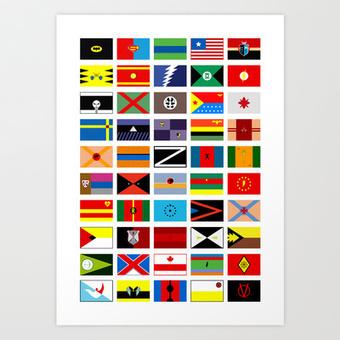 SH as flags Art Print by Fabian Gonzalez | Digital Ketchup! | Scoop.it