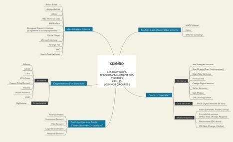 Qui sont ces grands groupes qui se rapprochent des startups ? [Mind map] | Cartes mentales | Scoop.it