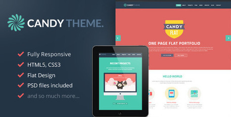25 best flat wordpress themes in 2013 to give your website new look | Flat design | Scoop.it