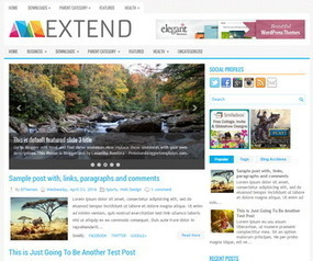 Extend Blogger Template | Blogger Templates | Scoop.it