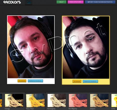 99colors – Ajouter des effets sympa sur vos photos | SlyDnet | A l'ère du webmarketing. | Scoop.it