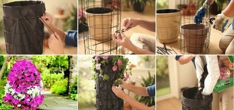 Вертикальная клумба для петунии - украшение для дачи | ars | Scoop.it